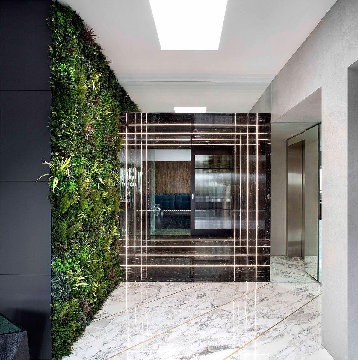Stephens green marble corridor