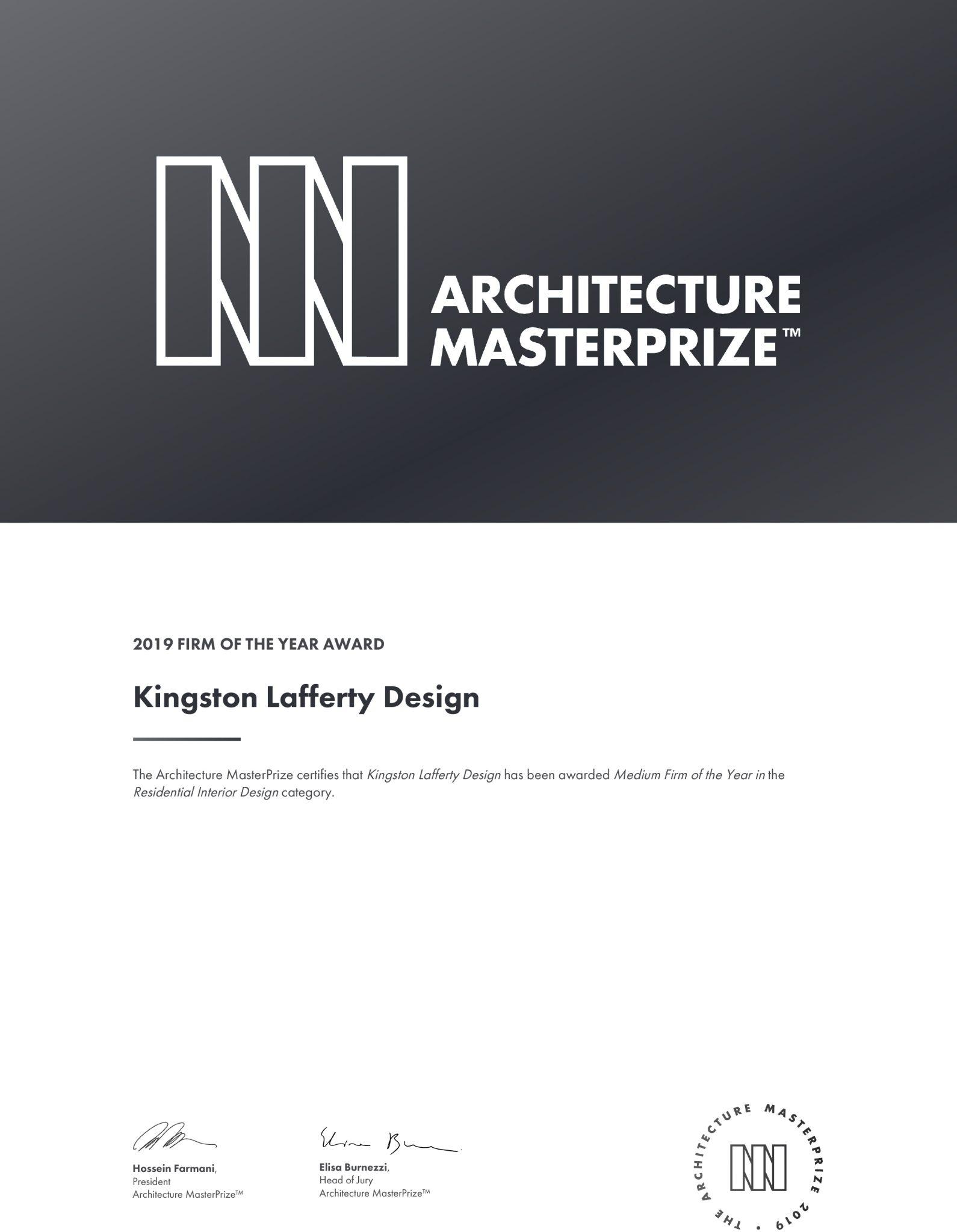 Architecture Master Prize 2019